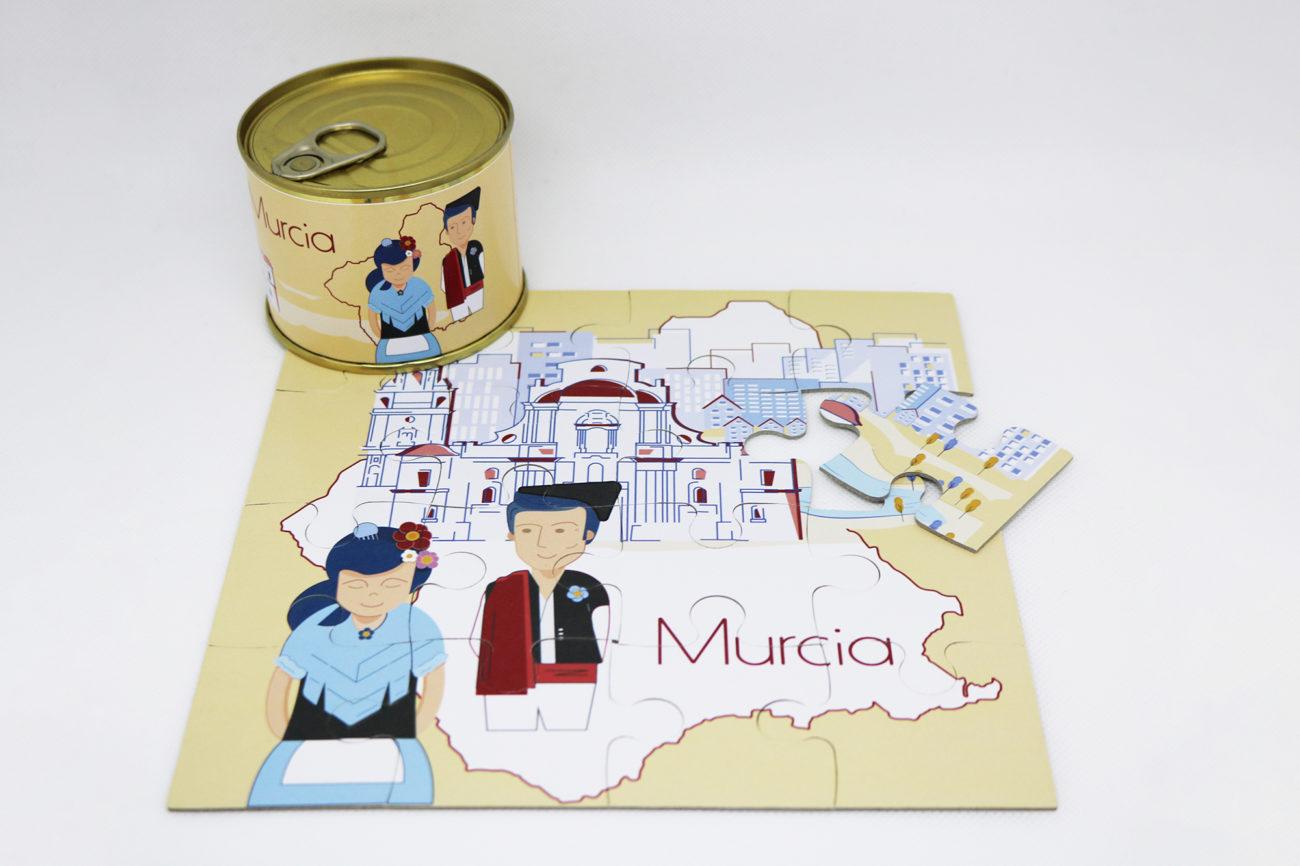 Puzzle y lata Murcia